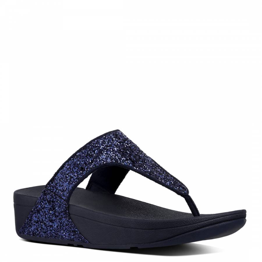 d72e5e4a31b Women s Midnight Navy Glitterball Toe Post Sandals - BrandAlley