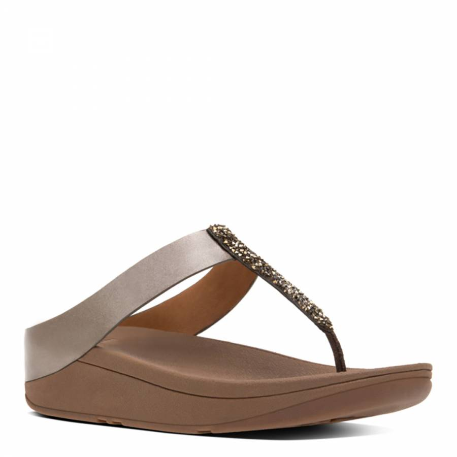 0056744dfc471 Women s Urban White Leather Banda II Crystal Toe Post Sandals ...