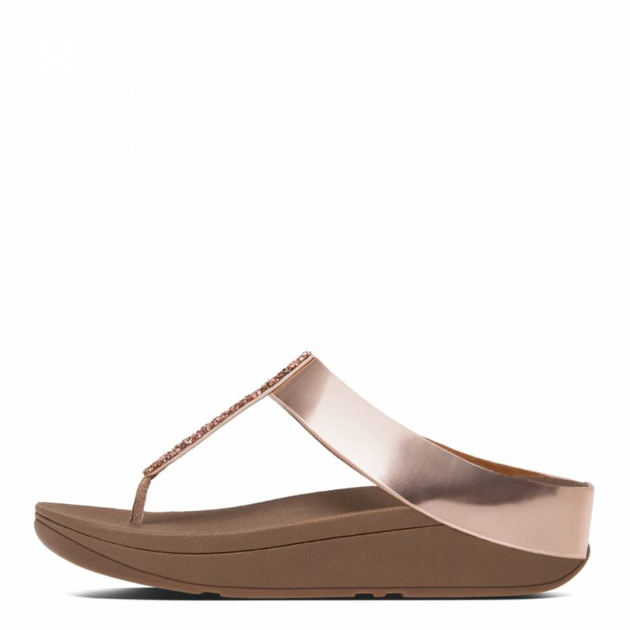 d156163a3 Women s Rose Gold Fino Crystal Toe Post Sandals - BrandAlley