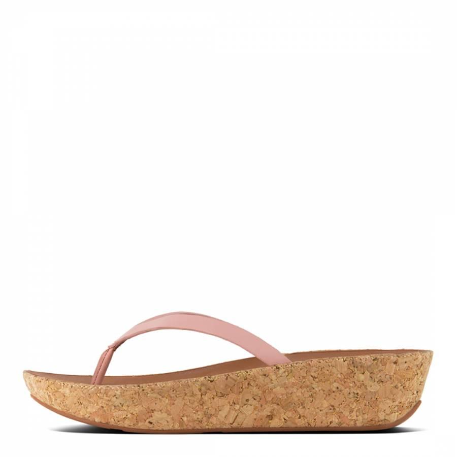 055cda71bc Women's Dusky Pink Leather Linny Toe Post Sandals - BrandAlley