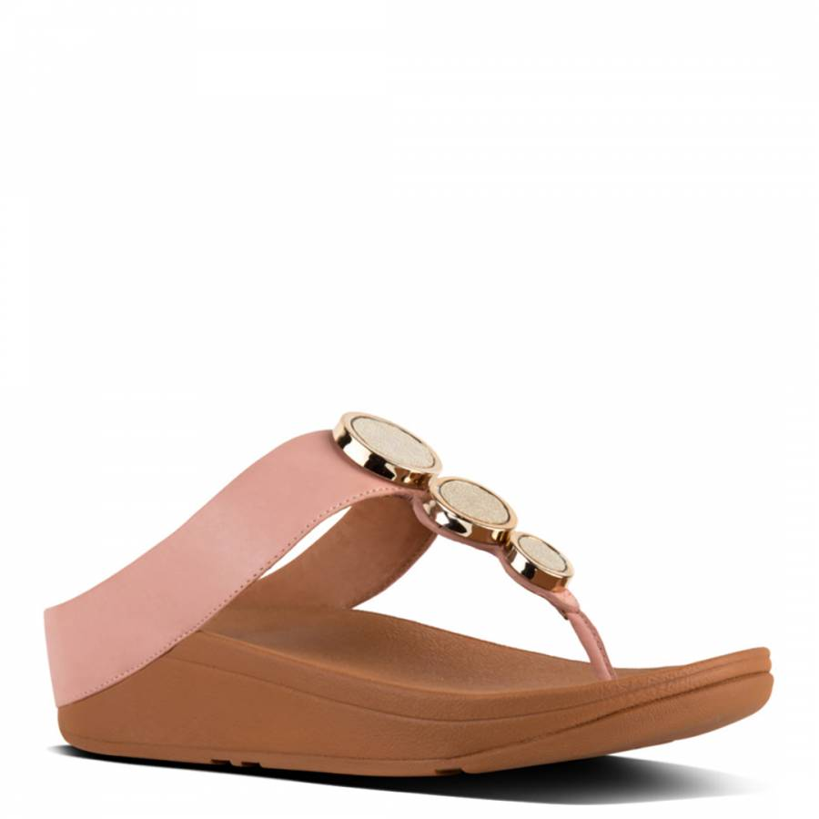 0c165dd6b802d3 Women s Dusky Pink Leather Halo Toe Post Sandals - BrandAlley