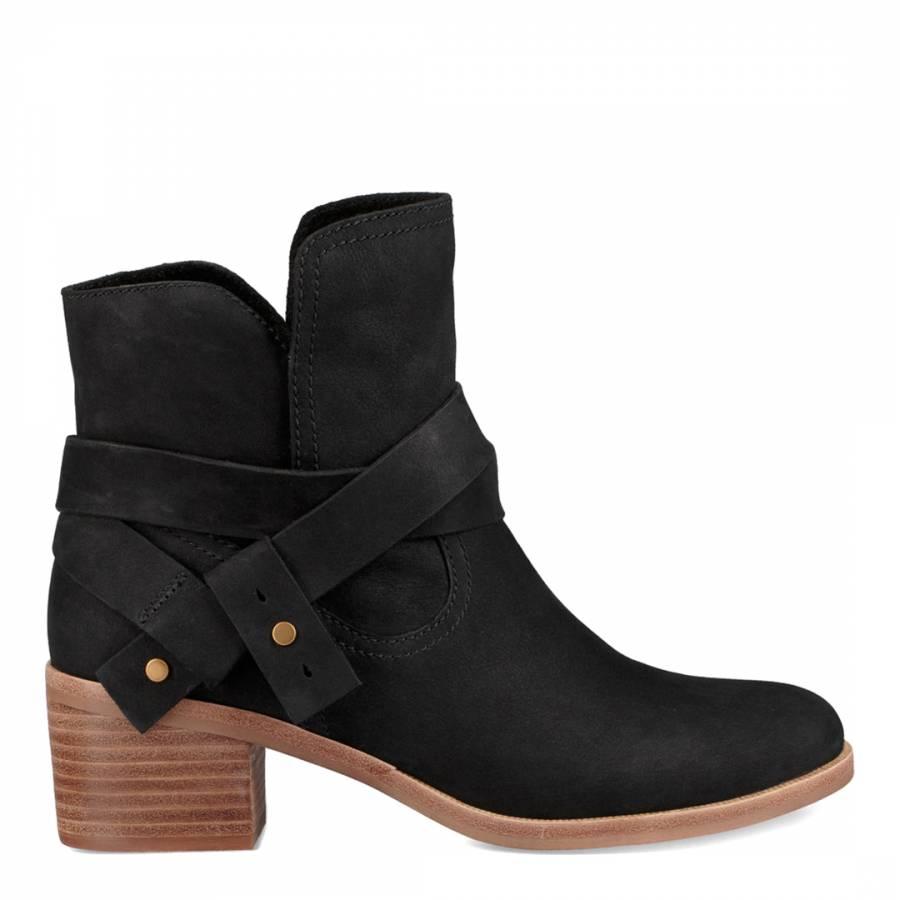 ea4402fc4c5 Black Suede Elora Ankle Boots - BrandAlley