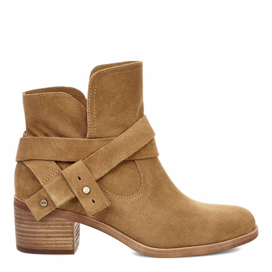 3f684da156e UGG Chestnut Suede Elora Ankle Boots