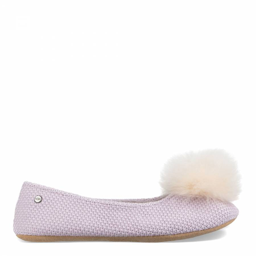 373f6daac48 UGG Lavender Fog Knit Andi Ballet Slippers