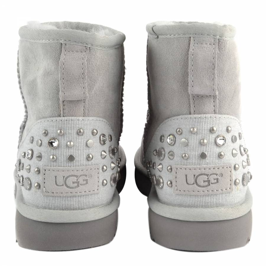 2106af7eb00 Grey Violet Suede Mini Studded Bling Boots - BrandAlley