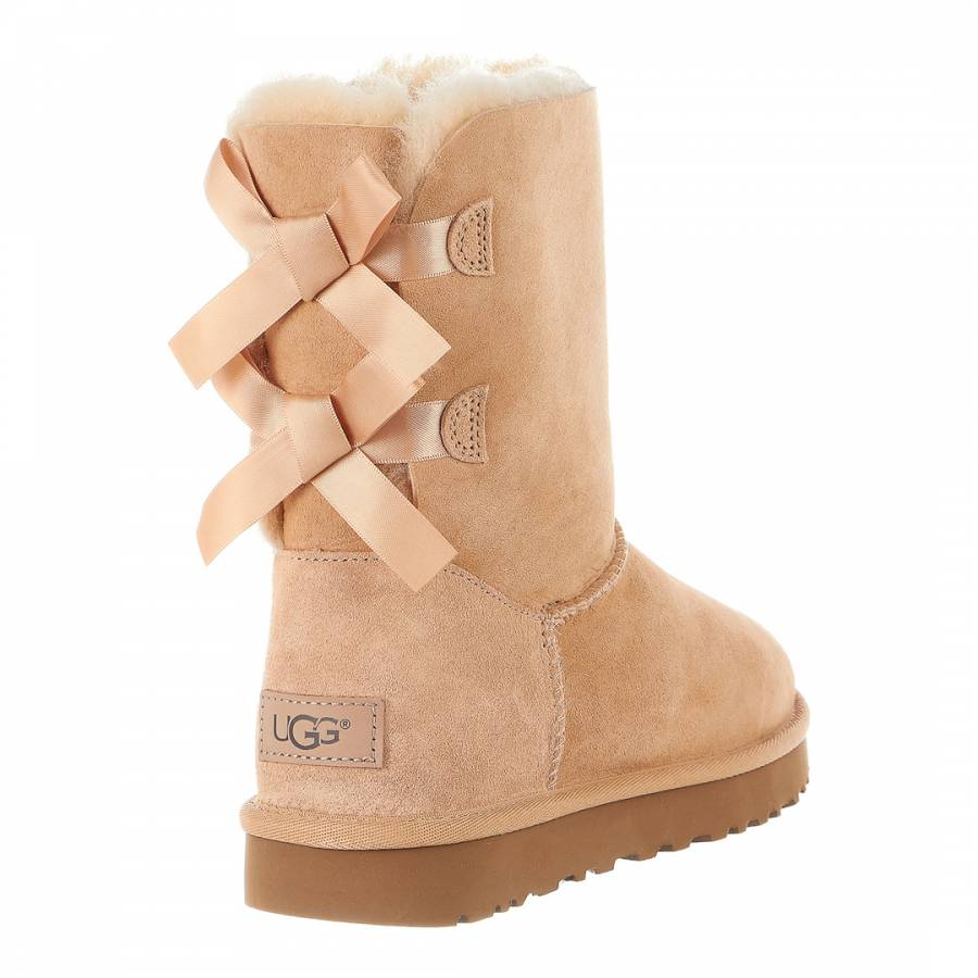 c932f50678f Soft Ochre Sheepskin Bailey Bow II Boots - BrandAlley