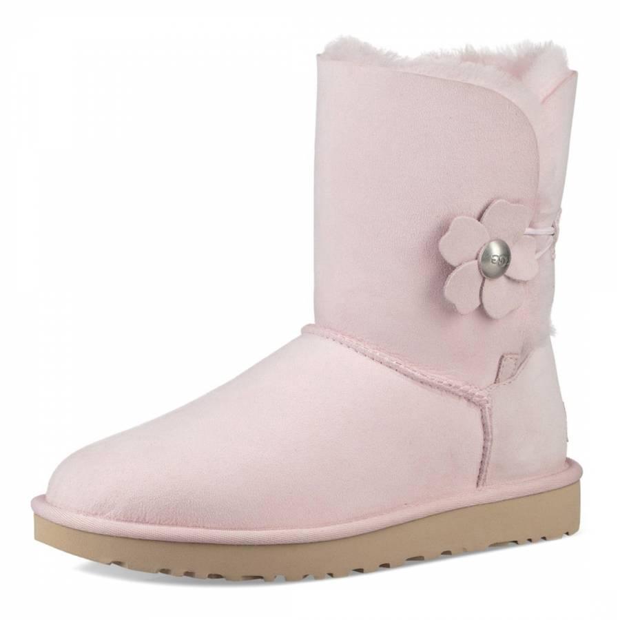 d1b64d1d732 Seashell Pink Sheepskin Bailey Button Poppy Boots - BrandAlley