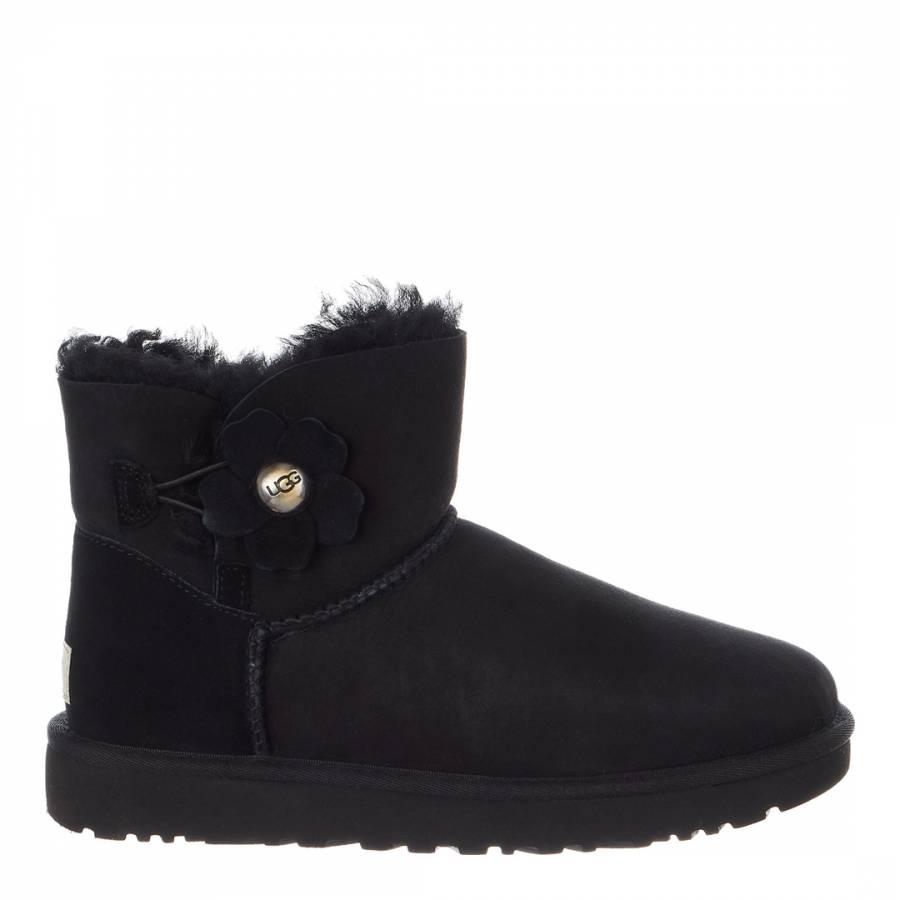 acbc591f72e8 Black Sheepskin Mini Bailey Button Poppy Boots - BrandAlley