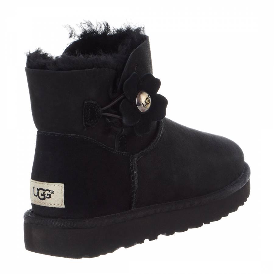 6f882c1f83 Black Sheepskin Mini Bailey Button Poppy Boots - BrandAlley