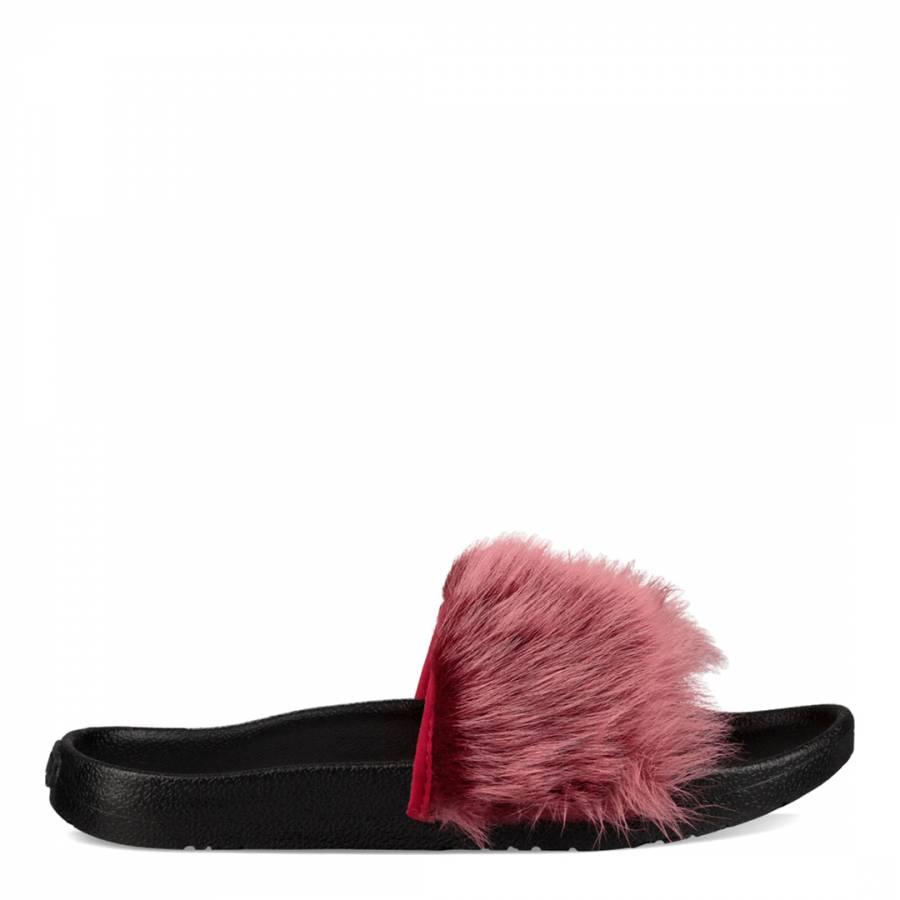 c9979c7f379 Brambleberry Pink Sheepskin Royale Tipped Slides - BrandAlley