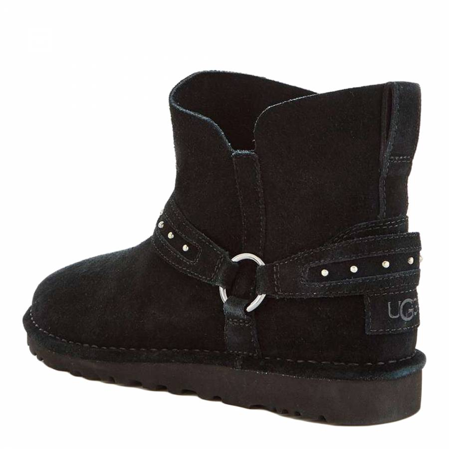 061fba908 Black Suede Ailiyah Ankle Boots - BrandAlley
