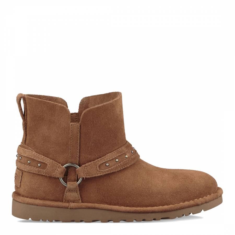 fdf0d084df4 Chestnut Sheepskin Leather Lodge Boots - BrandAlley