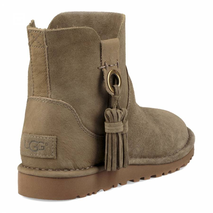 355e79aa8 Antilope Taupe Suede Gib Ankle Boot - BrandAlley