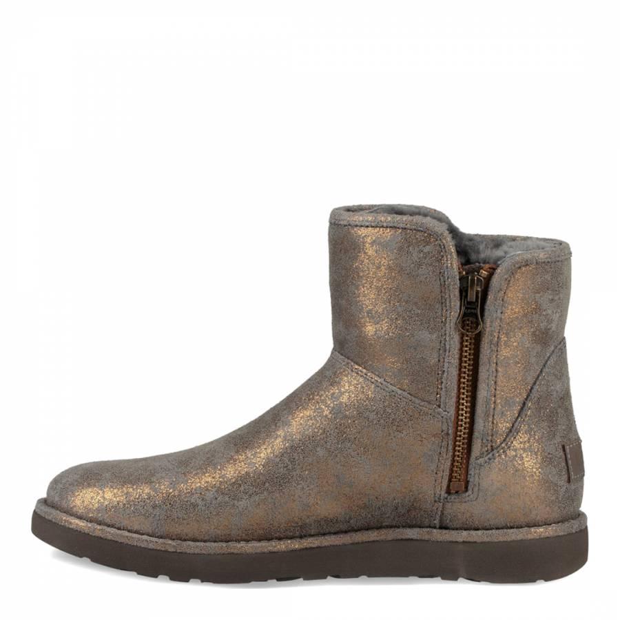 006eb2a1c30 Gunmetal Metallic Suede Abree Mini Stardust Boots - BrandAlley