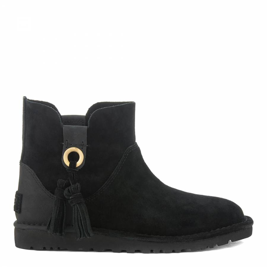 b2951338f02 Womens Black Suede Shenendoah Ankle Boots - BrandAlley