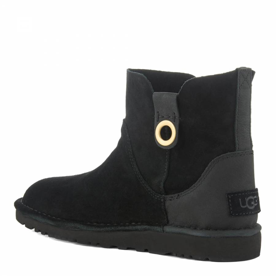 UGG Black Suede Gib Unlined Ankle Boots