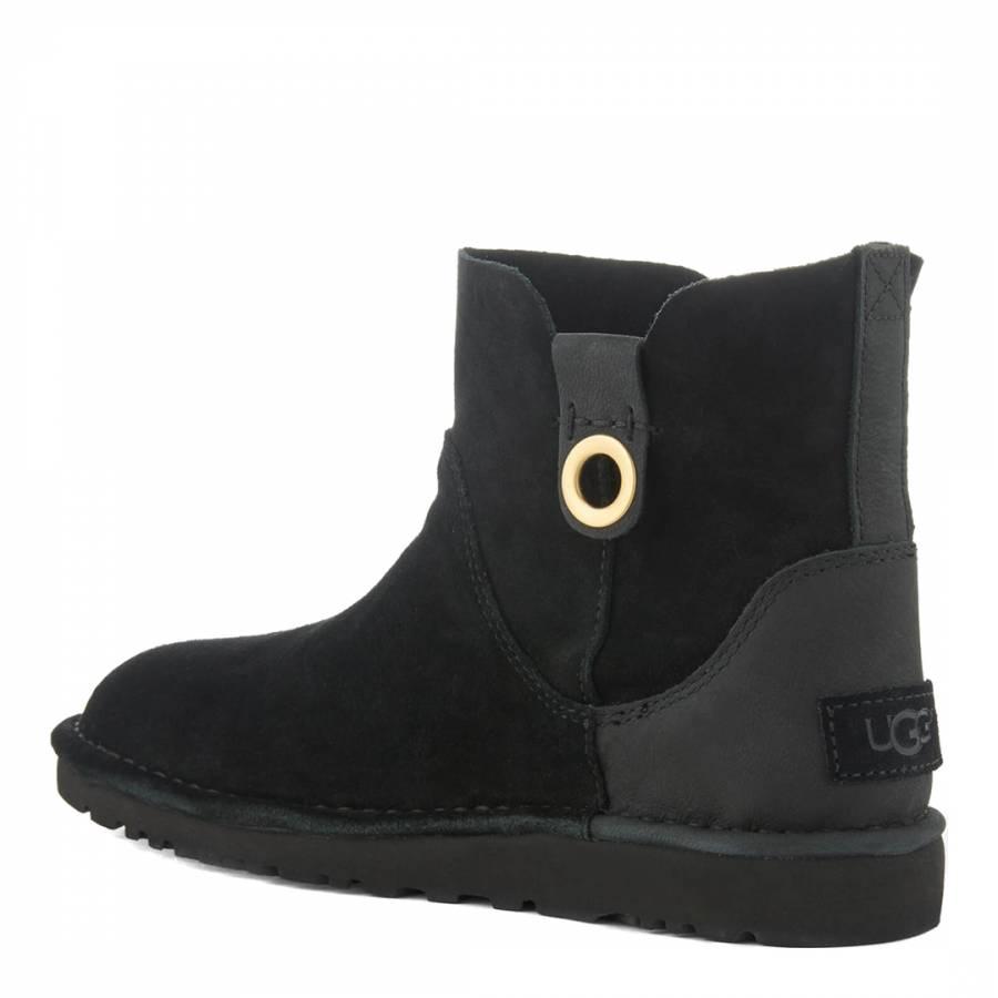 e478e3353 Black Suede Gib Ankle Boots - BrandAlley
