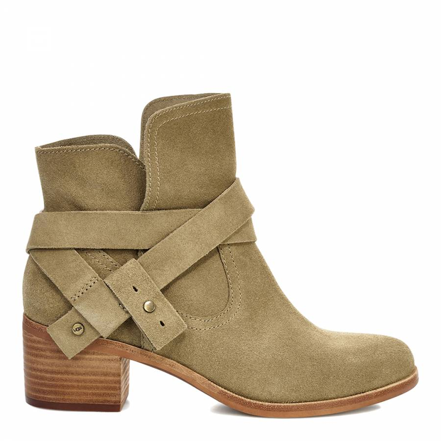23db70aec4d4a4 Antilope Taupe Suede Elora Ankle Boots - BrandAlley