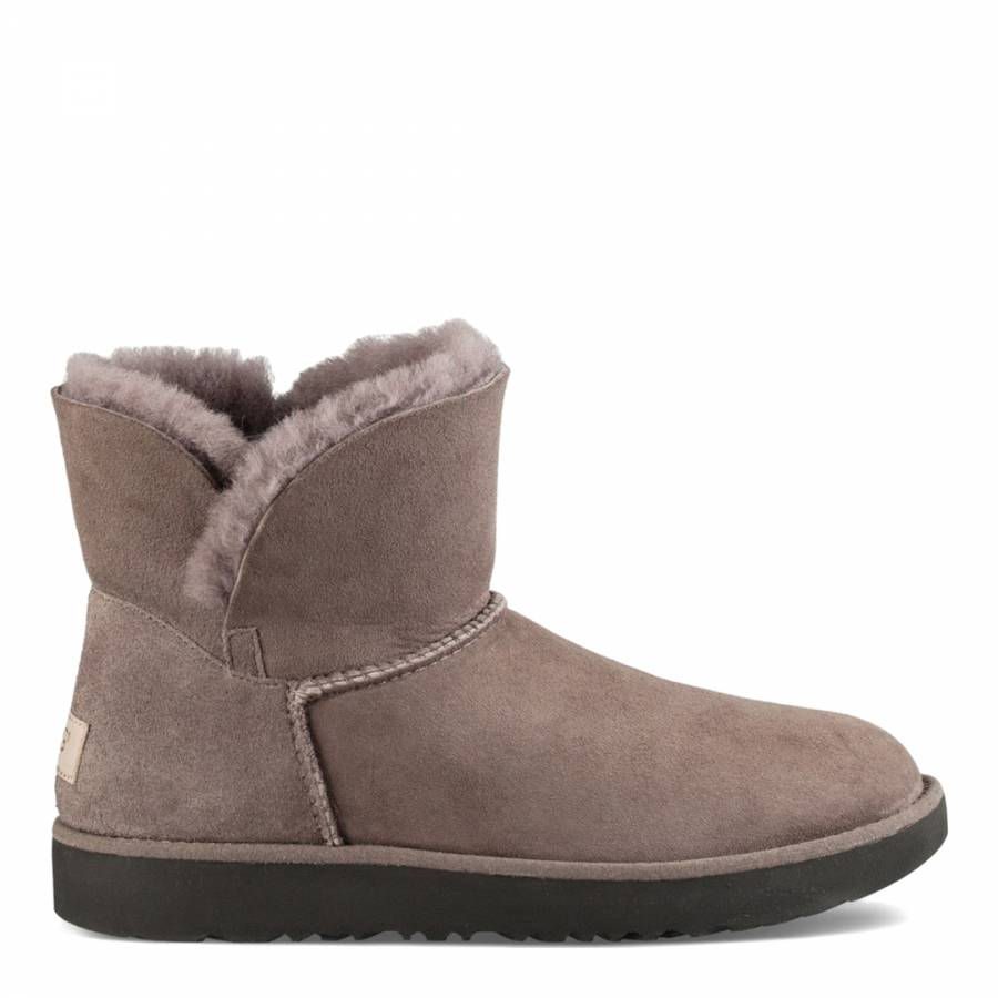 8bb8b959e73 Stormy Grey Sheepskin Classic Cuff Mini Boots - BrandAlley