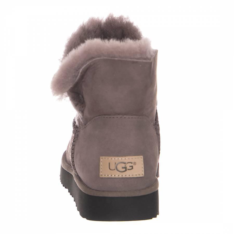 fe36c0eb6 Stormy Grey Sheepskin Classic Cuff Mini Boots - BrandAlley