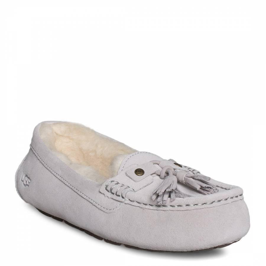 435bc57ae0b Grey Lilac Sheepskin Litney Tassel Slippers - BrandAlley