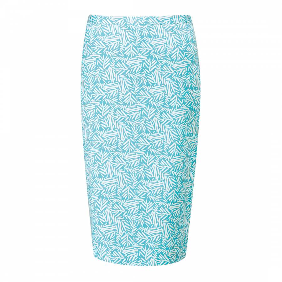 1e13c9c524 Pure Collection Turquoise Leaf Pencil Skirt