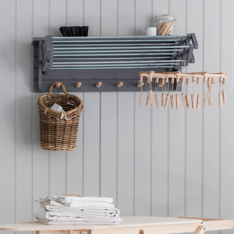 Birch Extending Clothes Dryer in Charcoal