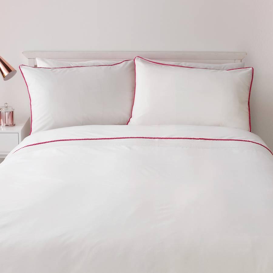 Pom Pom Double Duvet Cover Set Pinkwhite Brandalley
