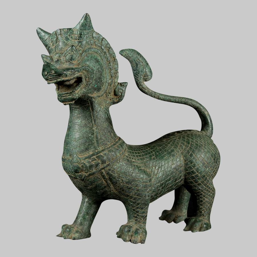 Antique Chinese Style Bronze Dragon Statue - BrandAlley