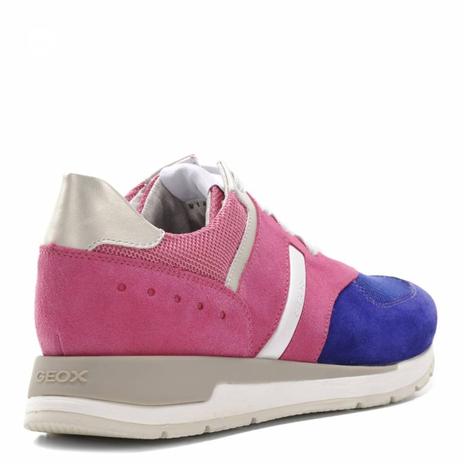 1e95b56566445 Women's Pink And Purple Suede Contrast Shahira Sneakers - BrandAlley