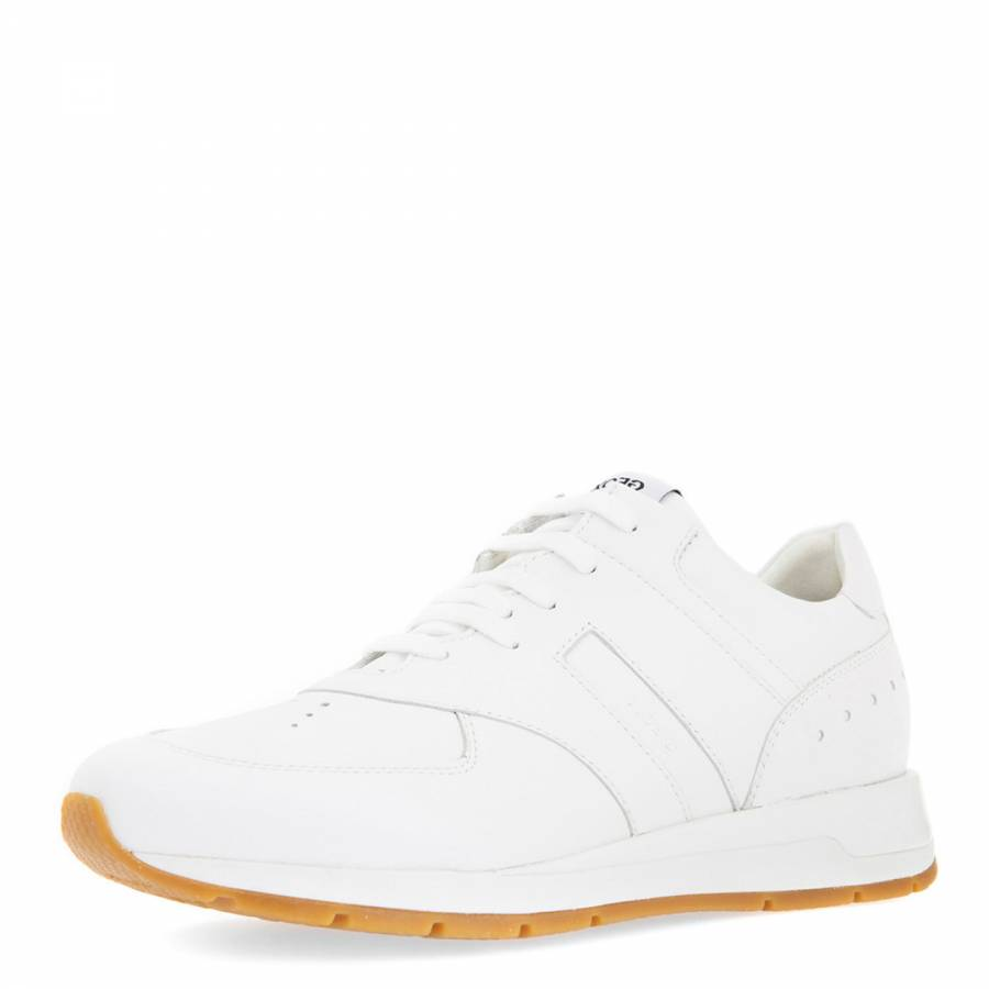 11a781d7dee31 Women's White Leather Shahira Sneakers - BrandAlley