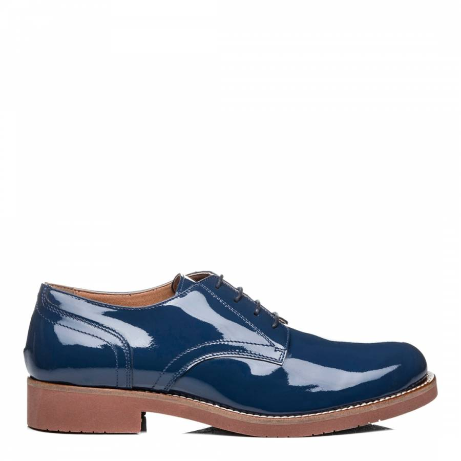 178cce64ff3 Women s Patent Navy Leather Monogram Derby Shoes - BrandAlley