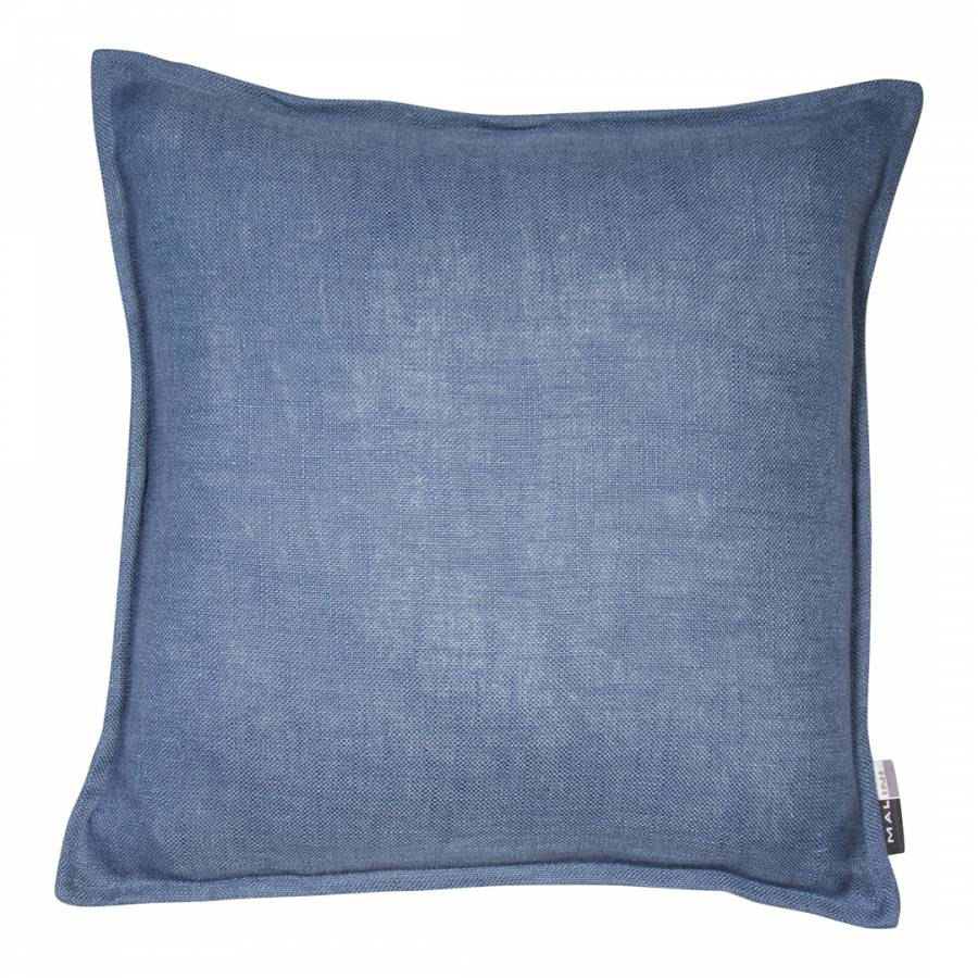 Blue Cotton Cushion With Flange 45x45cm - BrandAlley