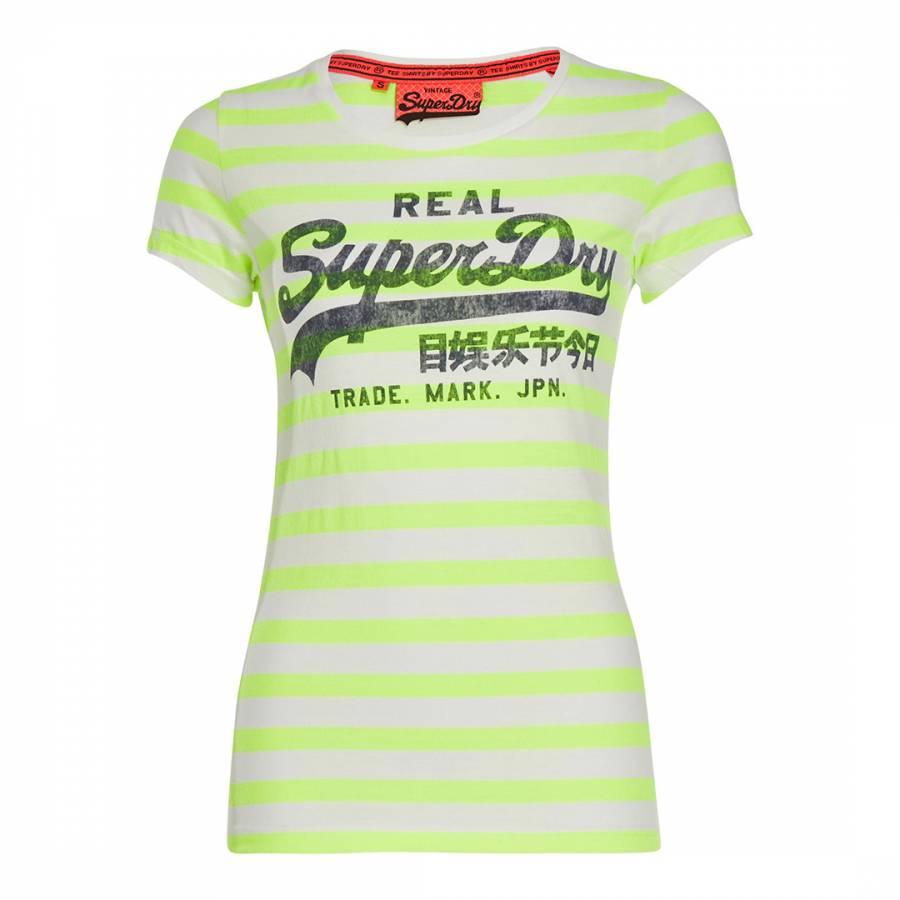 cff09230e1 Lime Stripe Vintage Logo Stripe T-Shirt - BrandAlley