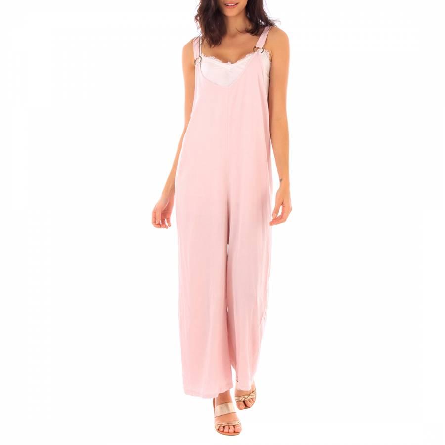 684b1c0bb4b1 Fille de Coton Pink Cotton Sleeveless Jumpsuit