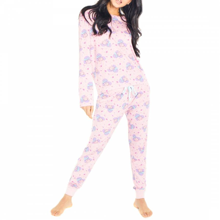 7612c59e40 Chelsea Peers Pink Dino Love Long PJ Set