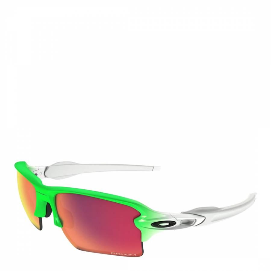 e8a125fb5d4 Men s Green White Flak 2.0 Sunglasses - BrandAlley