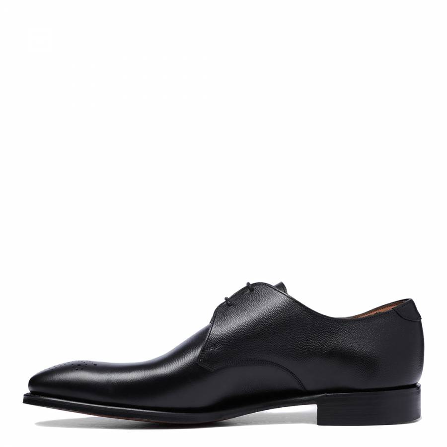 89d45030b95 Black Leather Liverpool Derby Shoes - BrandAlley