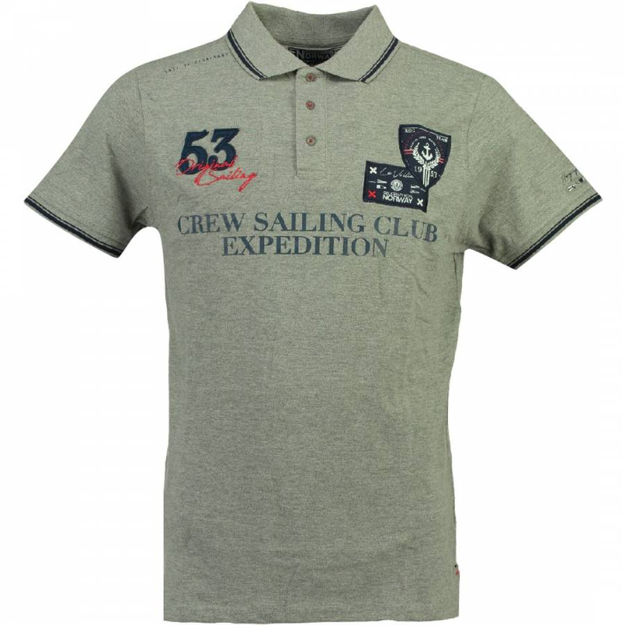 7818e84c Geographical Norway Men's Grey Kebastien Short Sleeve Polo