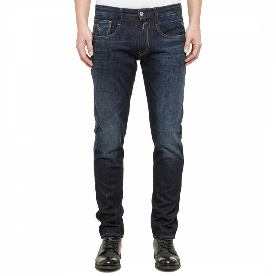 Dark Blue Anbass Slim Fit Jeans - BrandAlley 7a70f103648
