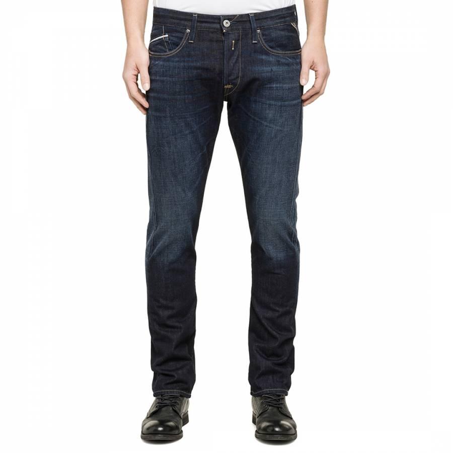 Dark Blue Waitom Regular Slim Fit Jeans - BrandAlley a18351ee822