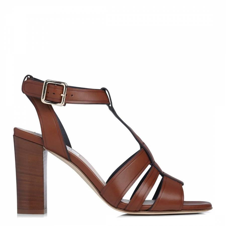 d37afe784f2 Tan Leather Selena T-Bar Sandals