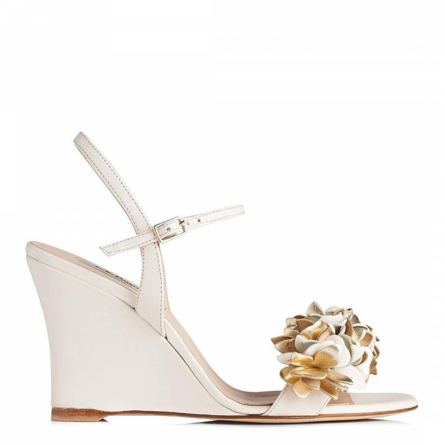 82f19f7e63f Cream Gold Leather Catherine Wedge Sandals - BrandAlley