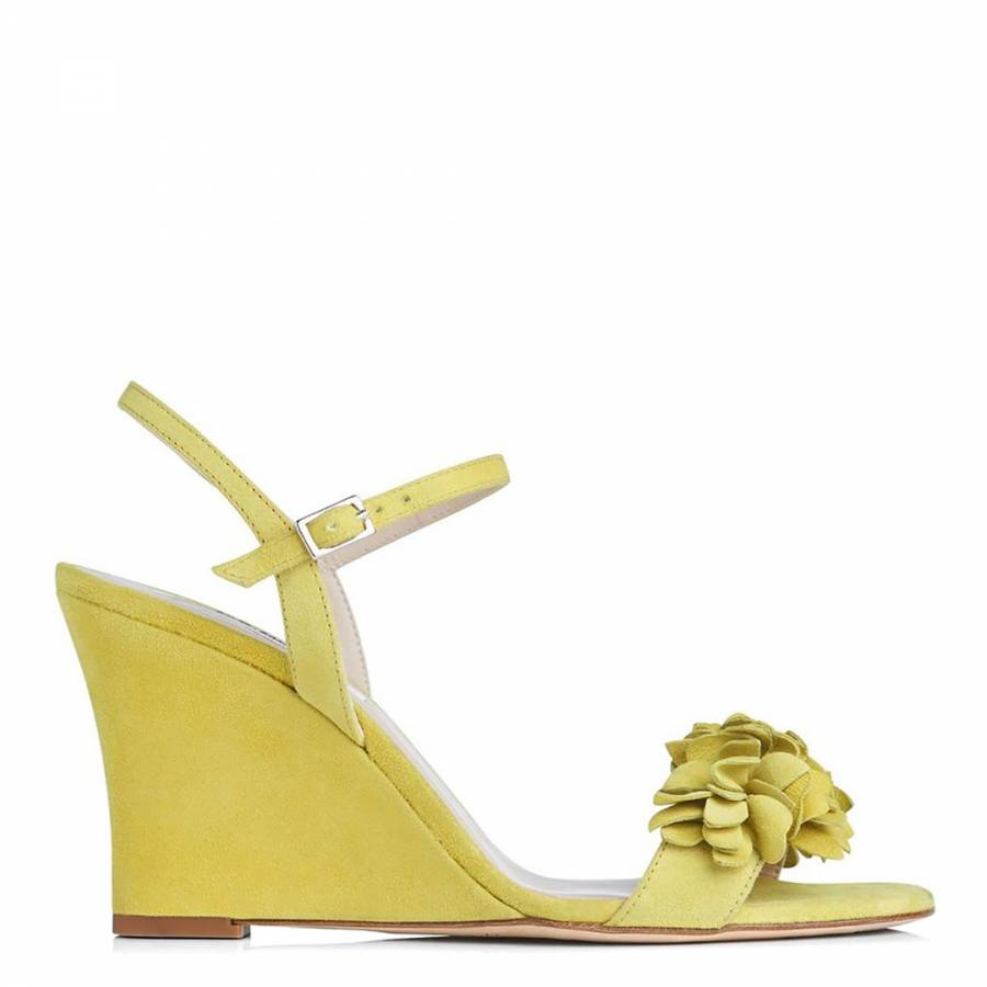 94816d6917a Lime Suede Catherine Wedge Sandals - BrandAlley