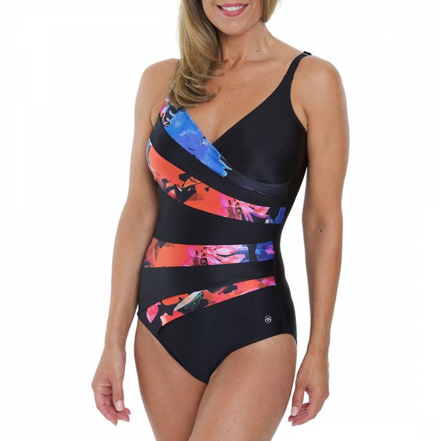 0256ee6411f5c Zoom · Seaspray Blue/Multi Rio Strap Inset Swimsuit