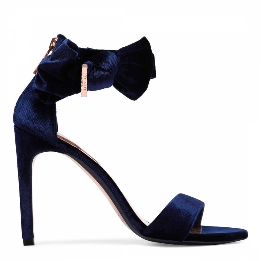 dark blue strappy heels best price