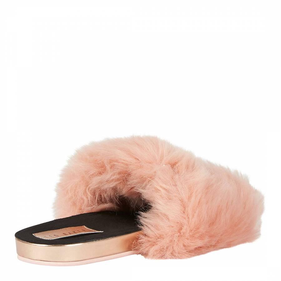 ad041d8da Pink Faux Fur Pancey Fluffy Slider Slippers - BrandAlley