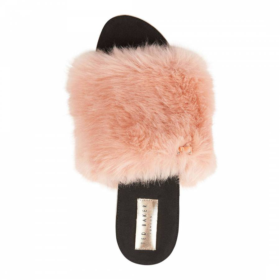 1f491d7b099e Ted Baker Pink Faux Fur Pancey Fluffy Slider Slippers. prev