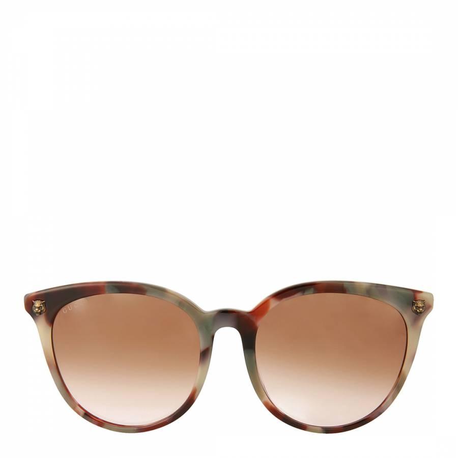 49de1f0eac58 Womens Gucci Havana Brown Sunglasses 50mm - BrandAlley