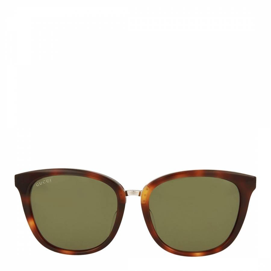 f62c3616d76 Gucci Womens Gucci Green Sunglasses 56mm. prev. next. Zoom